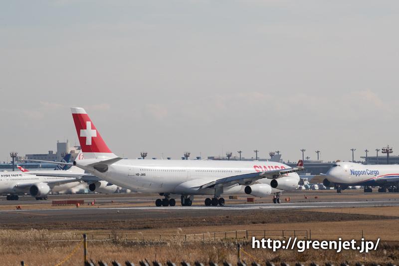 スイス航空のエアバスA340-313X