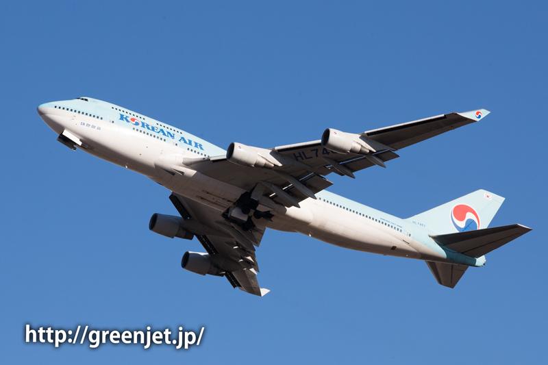 大韓航空のジャンボジェット@奥の細道