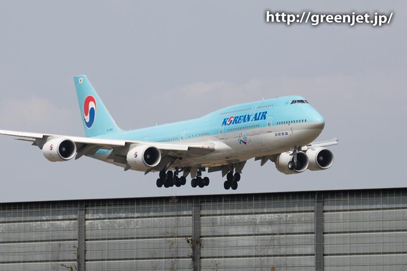 大韓航空のジャンボ@十余三東雲の丘