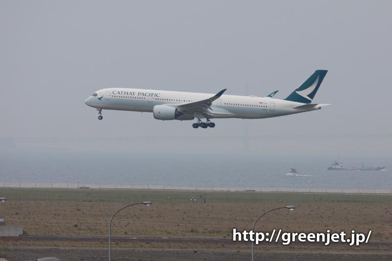 キャセイパシフィック航空のエアバスA350@関空