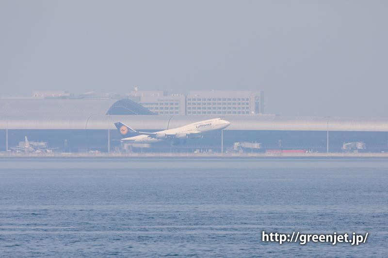 ルフトハンザのB747(ジャンボ)@関空