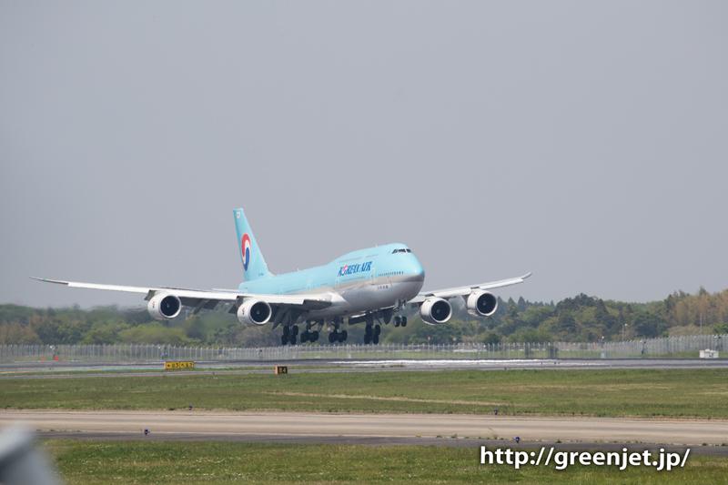 大韓航空のジャンボ@ゴルフ場入口