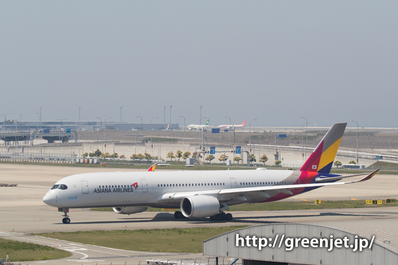 アシアナ航空のエアバスA350@関空