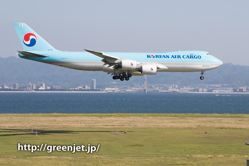 大韓航空カーゴのジャンボ@関空展望ホール