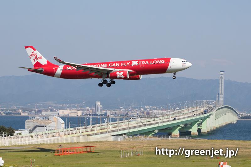 エアアジア・エックスのエアバスA330-343X@関空