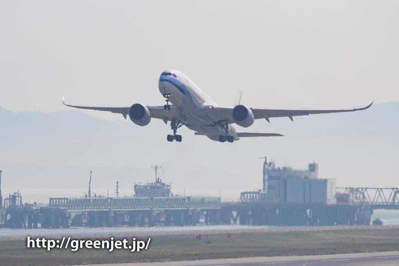 チャイナエアラインのA350@関空