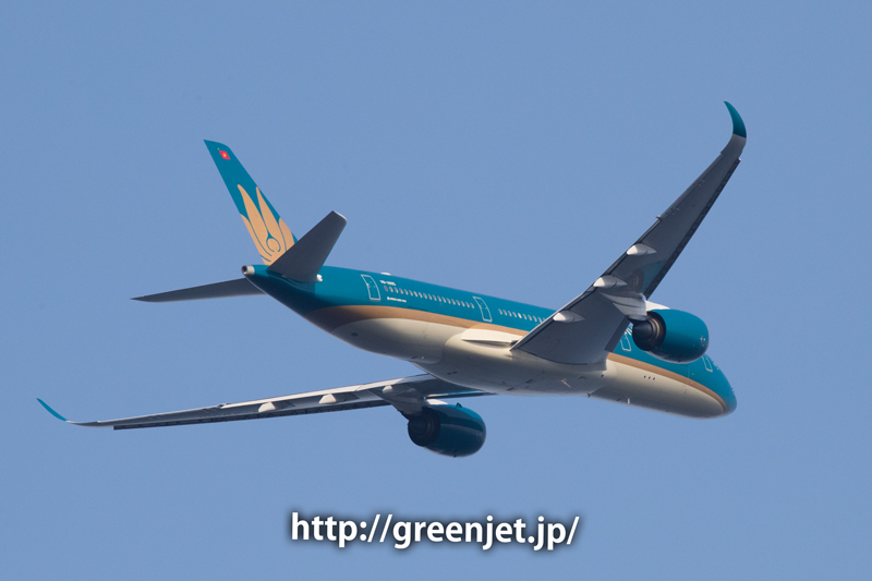 ベトナム航空のA350@浮島