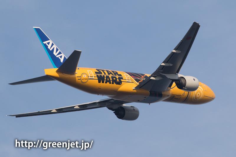 ANA スターウォーズジェット C-3PO@浮島