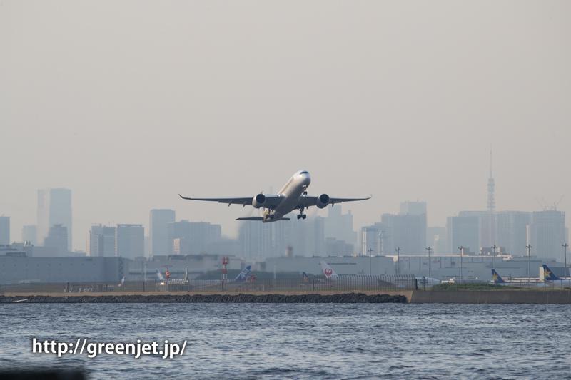 シンガポール航空のA350@浮島