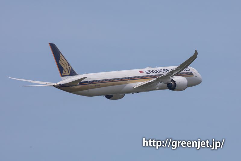シンガポール航空のB787-10@成田