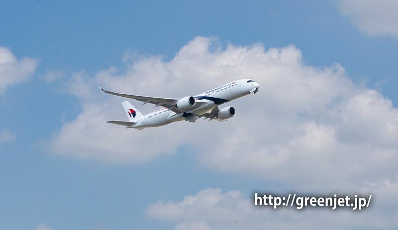 マレーシア航空のA350@さくらの丘