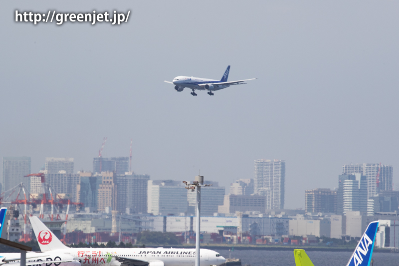 ANAのB777@羽田空港第二ターミナル駐車場