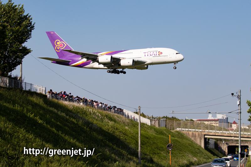 タイ国際航空のエアバスA380@さくらの山