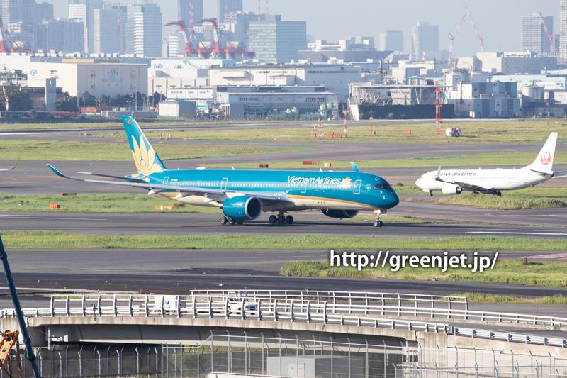 ベトナム航空のエアバスA350@羽田空港国際ターミナル