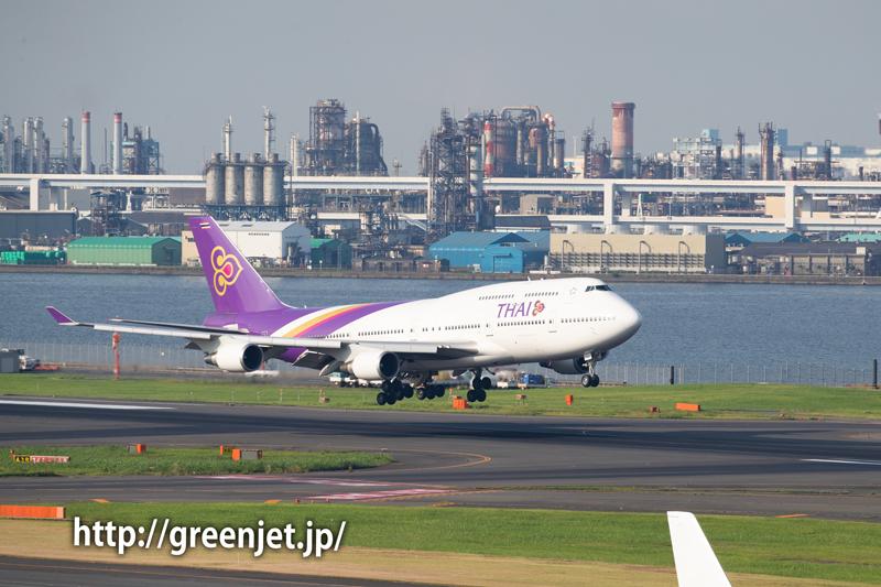タイ国際空港のジャンボ(B747)@羽田
