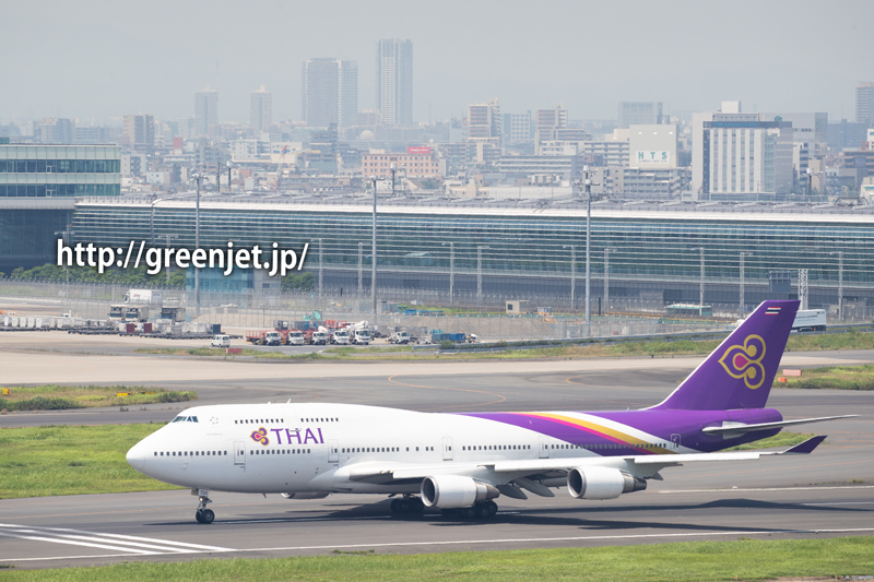 タイのジャンボ@羽田の第一ターミナル展望デッキ