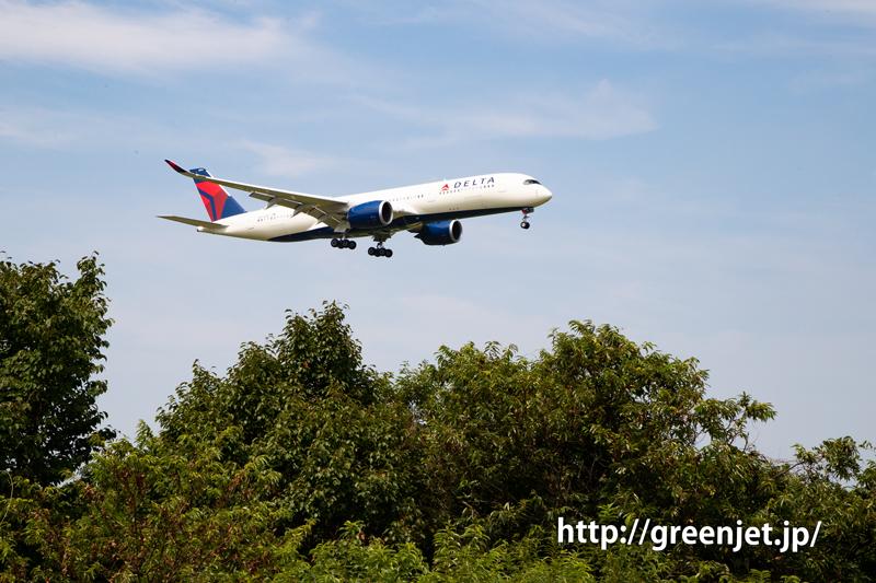 デルタ航空のA350@さくらの山