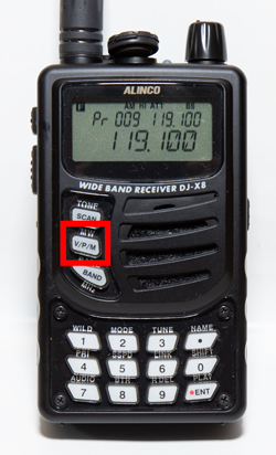 DJ-X8 操作その1 メモリーチャンネルの登録