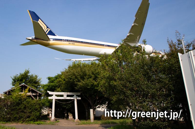 シンガポール航空のB787-10@東峰神社~ちょっと失敗作