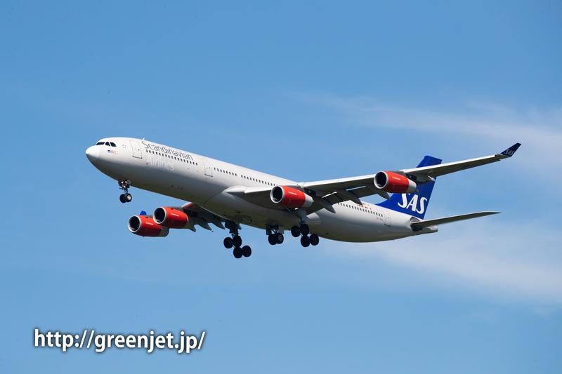 スカンジナビア航空のA340-313X@関戸橋