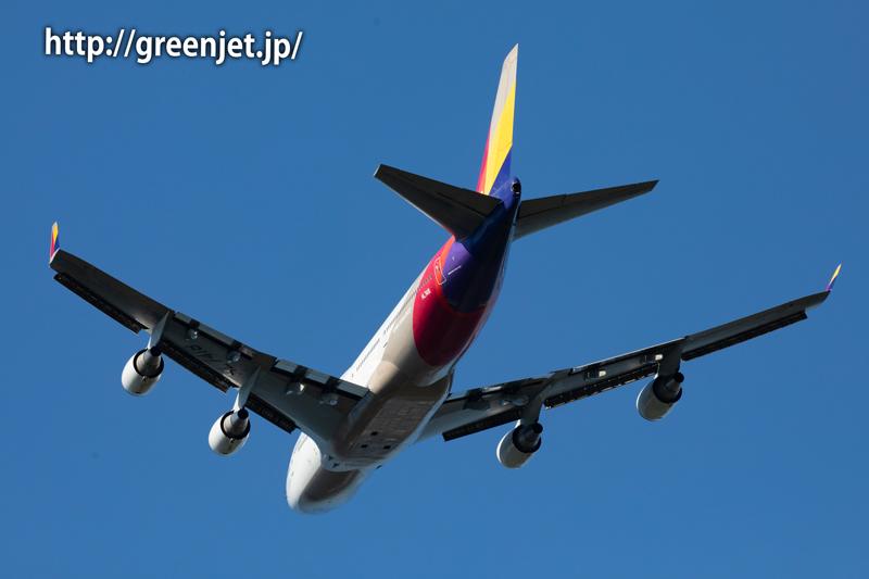 アシアナ航空のジャンボ@さくらの山