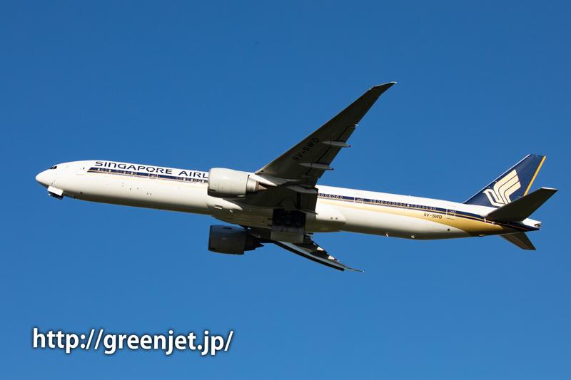 シンガポール航空のB777@さくらの山