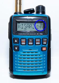 IC-R6のプライオリティスキャン