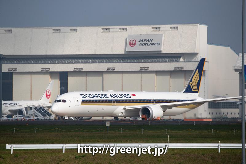 畑ポイントにて~シンガポール航空のB787-10
