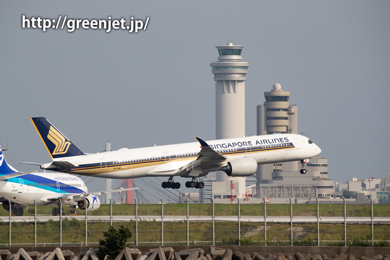 シンガポール航空のエアバスA350@つばさ公園