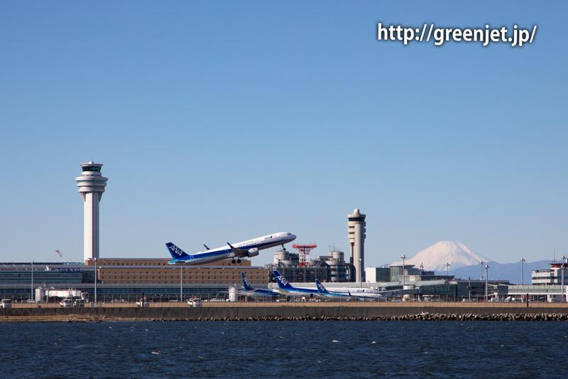 ハミングバードディパーチャーを超える!海上から撮る飛行機