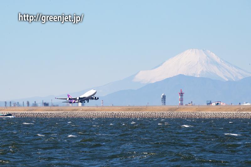 タイ国際航空のジャンボと富士山!
