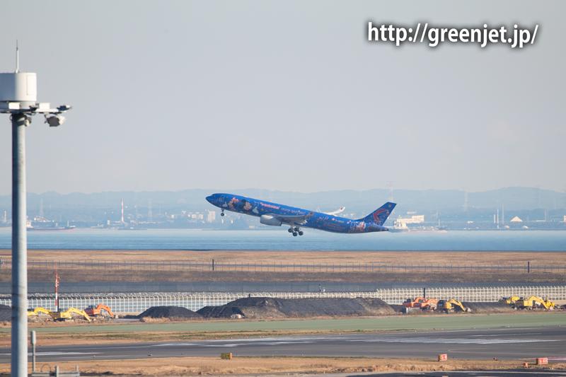 チャイナイースタンのミッキージェットの離陸シーンです!