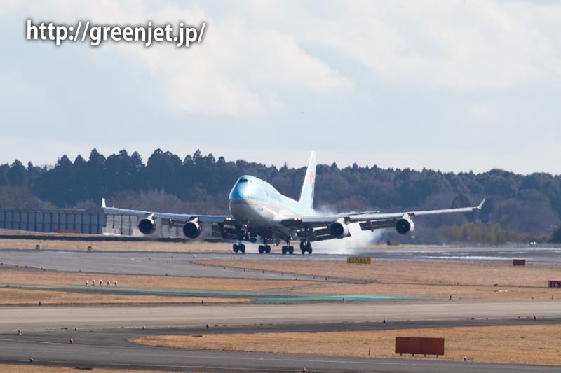 大韓航空のジャンボ~迫力のランディング