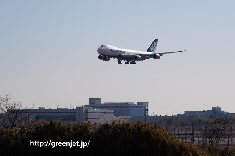 NCAのカーゴジャンボ~成田へ飛来