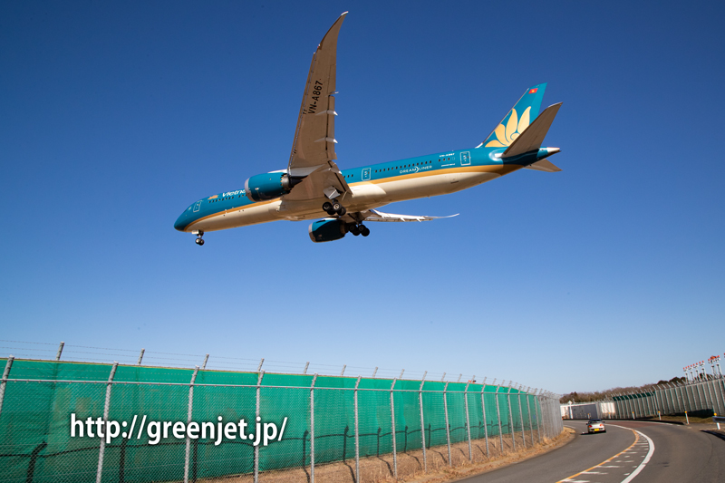 ベトナム航空のA350が東峰トンネル入口前にやって来た!