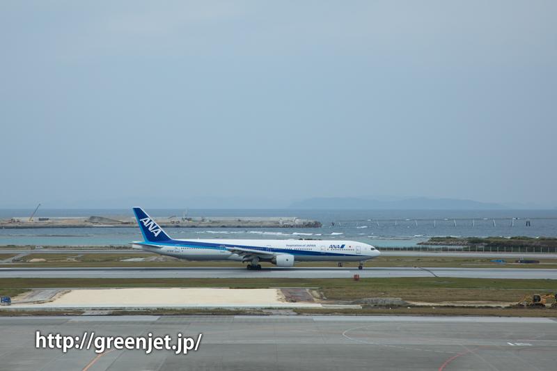 那覇空港4Fから飛行機を撮る