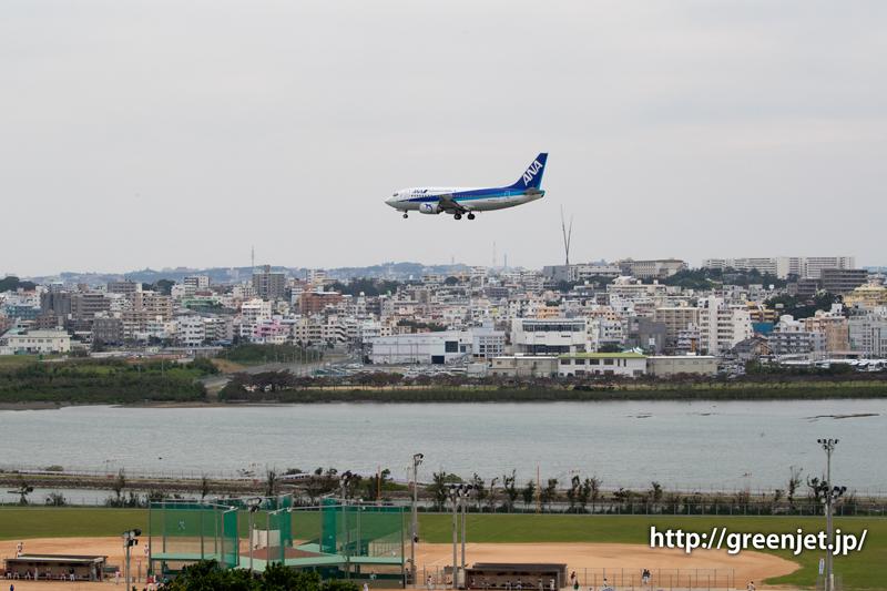 憧れの瀬長島展望台から撮る飛行機