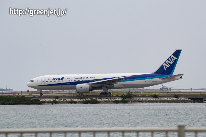 憧れの瀬長島連絡道路で撮る飛行機