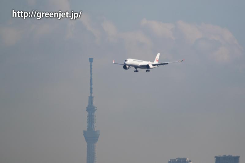 JALのエアバスA350初号機を捉えたぞっ!