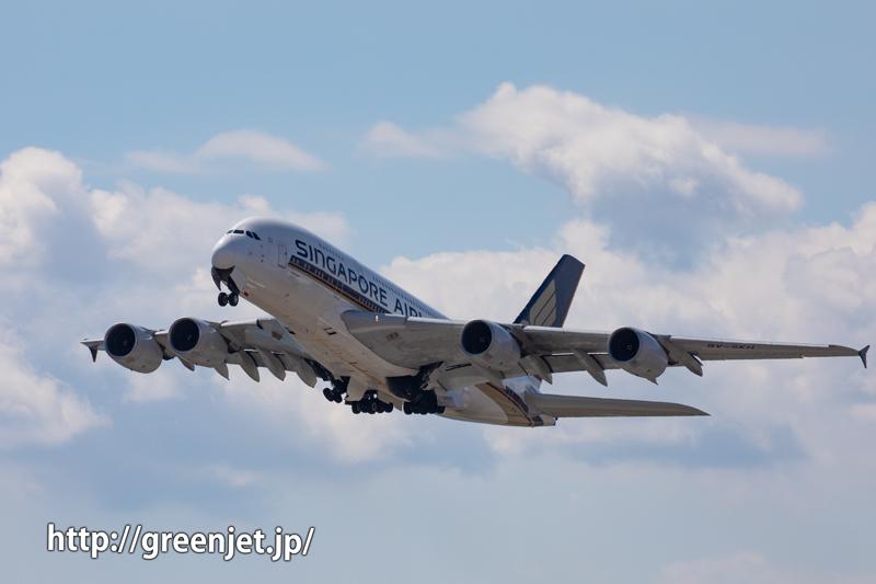 世界最大旅客機を関空で追う~シンガポール