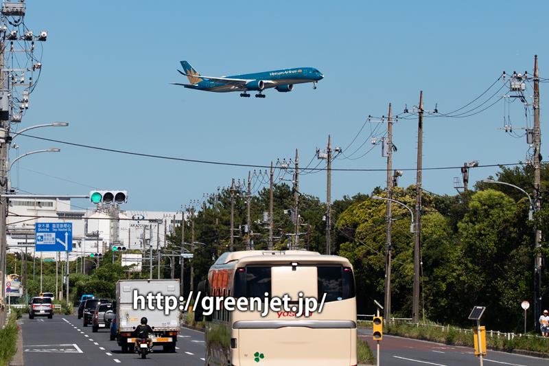 ベトナム航空のA350が目の前を横切る!