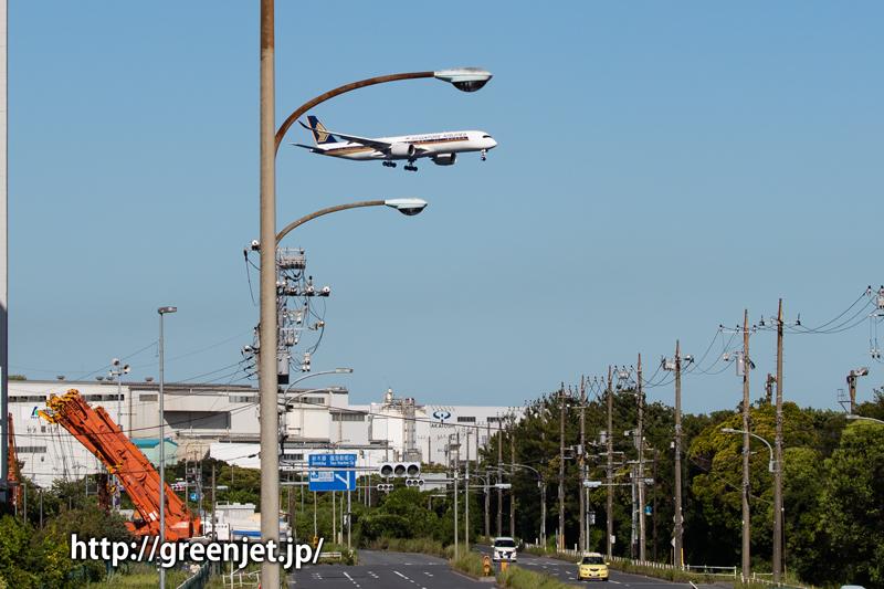 シンガポールのエアバスA350は何処で撮っても最高です!