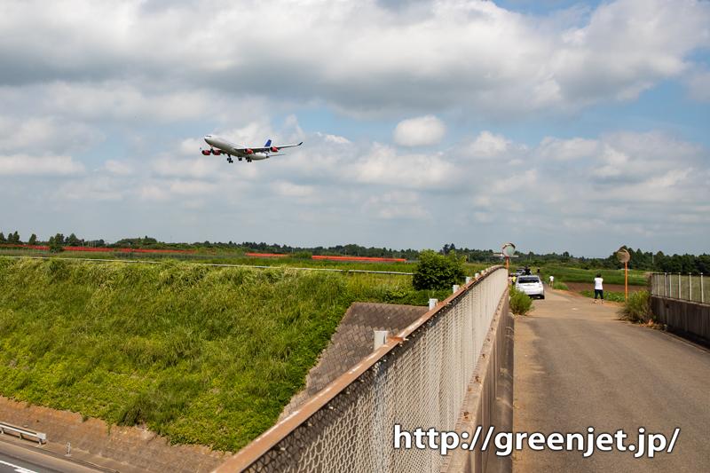 SASのエアバスA340~第三四本木橋~