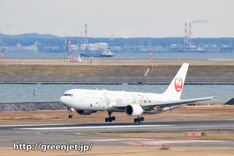 東京湾とJALのミッキーJET~羽田より