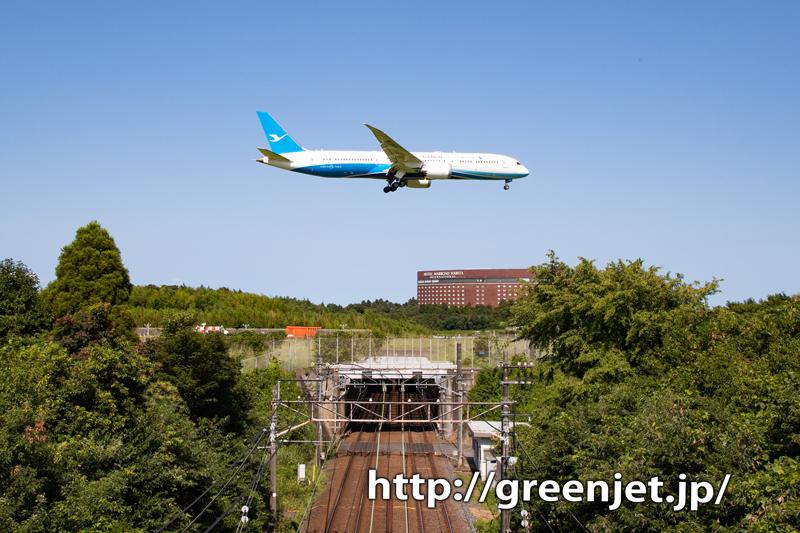 シャーメンB787と電車コラボにトライ!