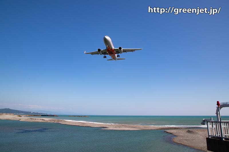 高知の美しい海と飛行機はジェットスター!