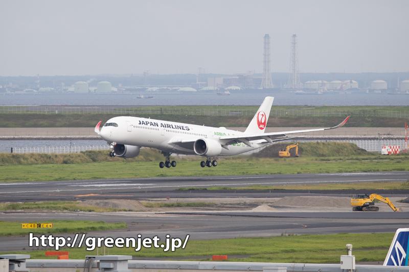 JAL エアバスA350 3号機を初撮り