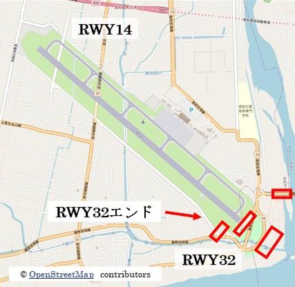 【高知空港飛行機撮影ポイント】RWY32エンド