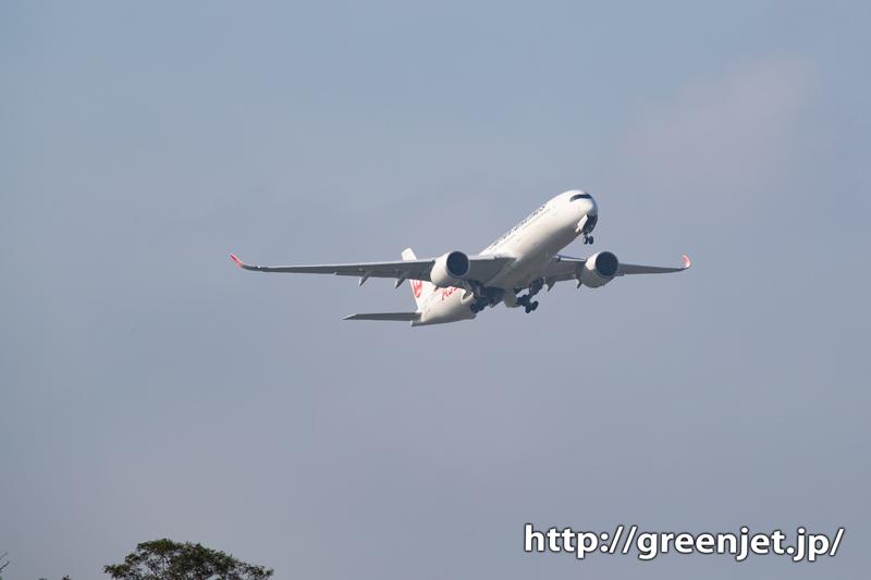 最後に成田で撮ったJALエアバスA350