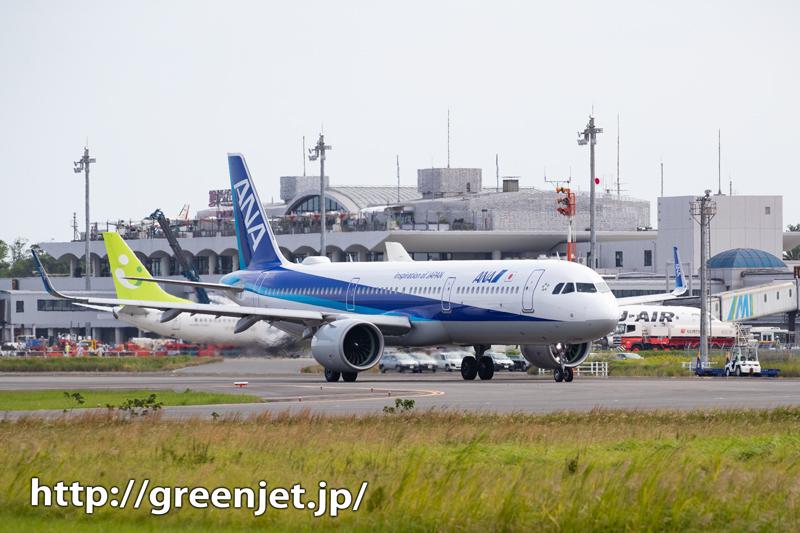 宮崎のRWY09エンド~出発機の美しさ~